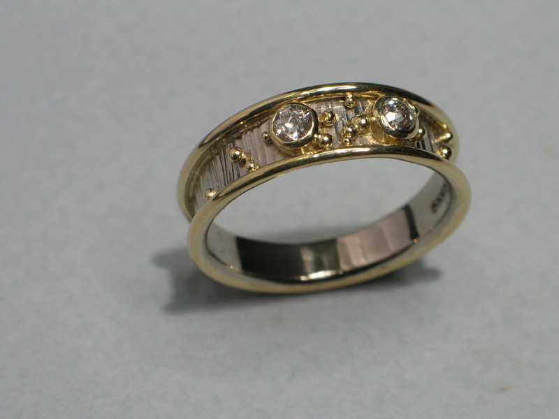 Gold Ring, granulation, commission